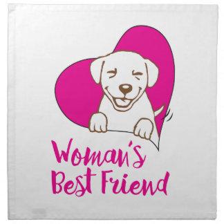 Woman's Best Friend - Dog Shirt Napkins