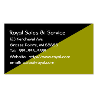 Woman's Black and Green Business Card
