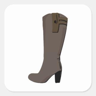Womans Boot Square Sticker