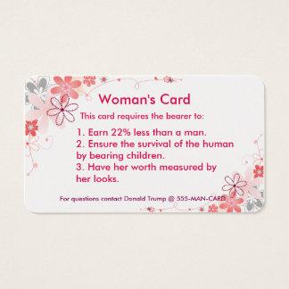 Woman's Card