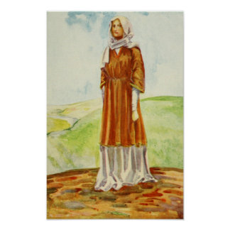 Woman's Costume Of The Time Of William I Print