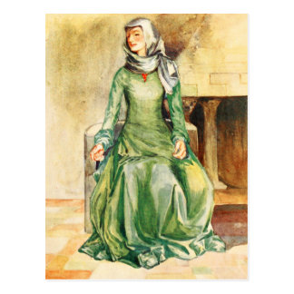 Woman's Costume Of The Time Of William II Postcard