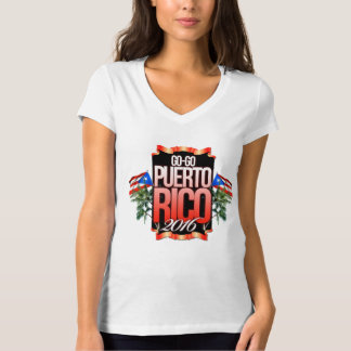 Womans GOGO PUERTO RICO V NECK T-Shirt
