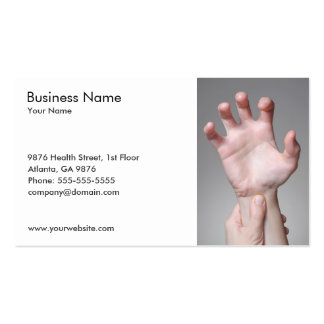 Woman's Hand Business Card Template