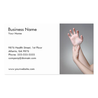 Woman's Hand Business Card Template Business Card Template