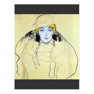 Womans head by Gustav Klimt Postcard