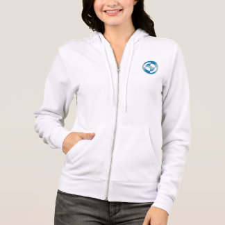 Woman's Hoodie with Abstract Circular Design
