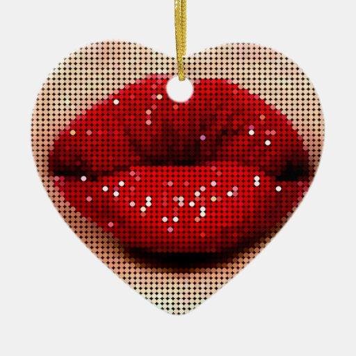 Woman's Kiss Ornament