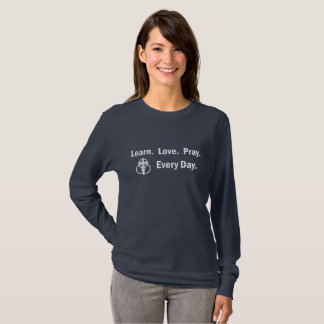 Woman's Long-sleeve T-shirt: Learn Love Pray T-Shirt