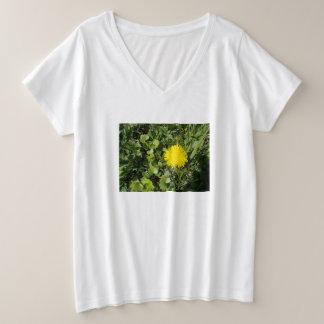 Woman's Plus-Size V-Neck Cotton T-Shirt