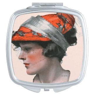 Woman's Profile Compact Mirror