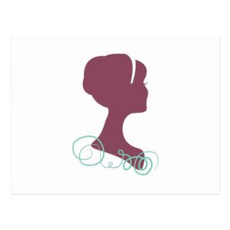 Womans Profile Postcard