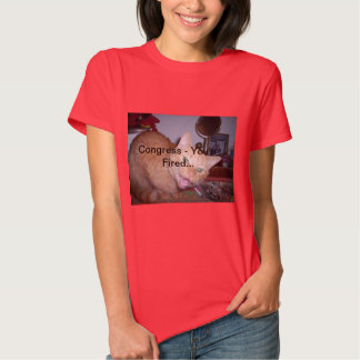 Woman's red t-shirt featuring Jackson the Cat