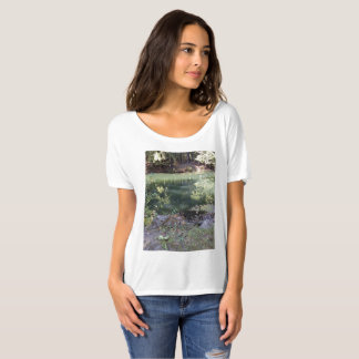 Woman's Slouchy Boyfriend T-Shirt with scene