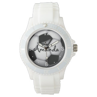 Woman's Soccer Personalized Watch