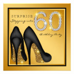 Womans Surprise 60th Birthday Party Invitation