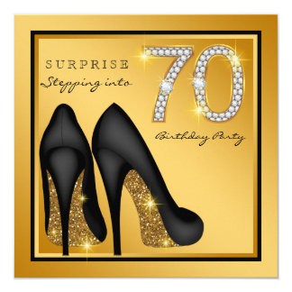 Womans Surprise 70th Birthday Party Card