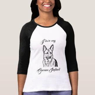 Woman's T-Shirt - I love my German Shepherd
