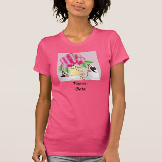 """Woman's T-shirt  """"Wedding  names and date"""""""