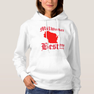 Womans White & Red Milwaukee Hoddie Hoodie