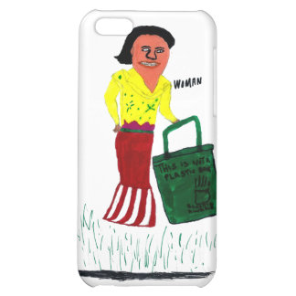 WomanWithBag Cover For iPhone 5C
