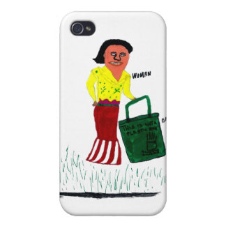 WomanWithBag iPhone 4 Case