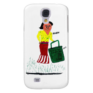 WomanWithBag Samsung Galaxy S4 Cases