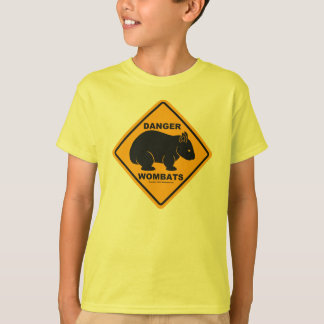 Wombat Danger Road Sign T-Shirt