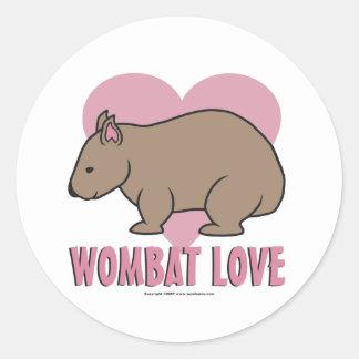 Wombat Love II Round Sticker