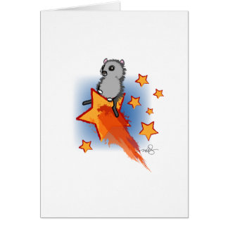 Wombat Riding A Shooting Star Card