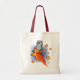 Wombat Riding A Shooting Star Budget Tote Bag