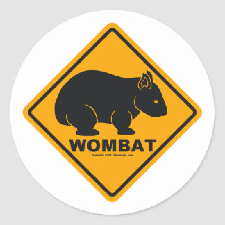 Wombat Sign Classic Round Sticker