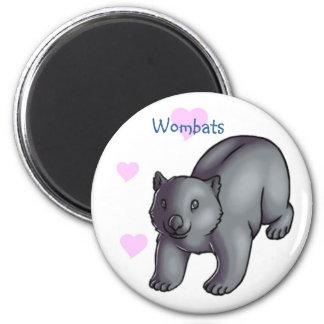 Wombats 6 Cm Round Magnet