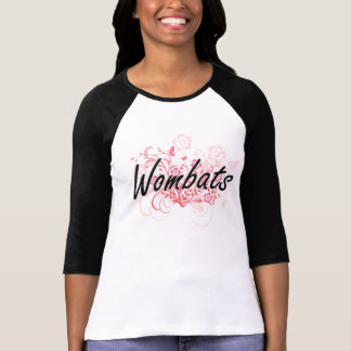 Wombats with flowers background T-Shirt