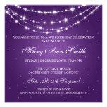 Women 50th Birthday Party Sparkling Chain Purple
