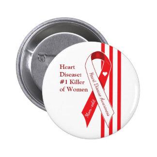 Women and Heart Disease Awareness 6 Cm Round Badge
