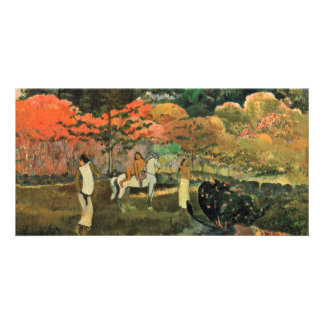 Women And Mold By Paul Gauguin (Best Quality) Photo Card
