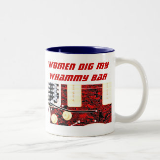 Women and Whammy Bar Two-Tone Coffee Mug