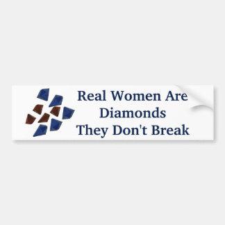 Women Are Diamonds Bumper Sticker