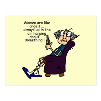 Women Are Like Angels Postcard