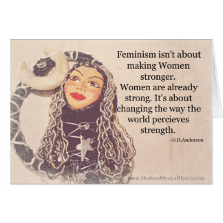 Women are Strong Blank Note card