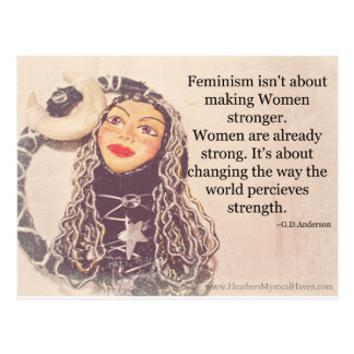 Women are Strong Postcard