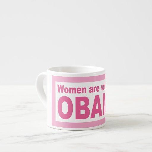 Women Are Voting For Obama Espresso Mug