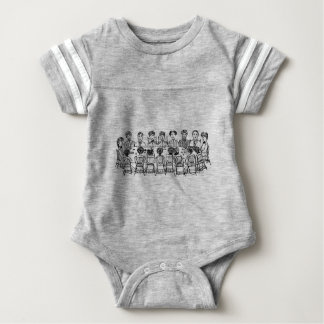 Women at a Dinner Party Baby Bodysuit
