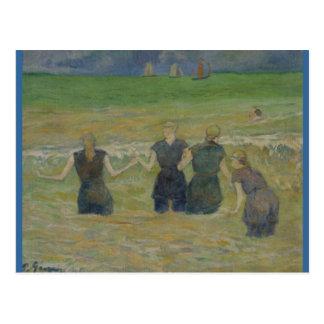 Women Bathing by Paul Gauguin Postcard