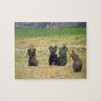 Women Bathing Dieppe by Paul Gauguin Jigsaw Puzzle