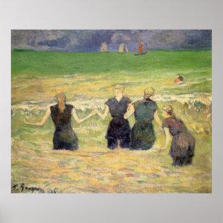 Women Bathing Dieppe Gauguin Post Impressionism Poster