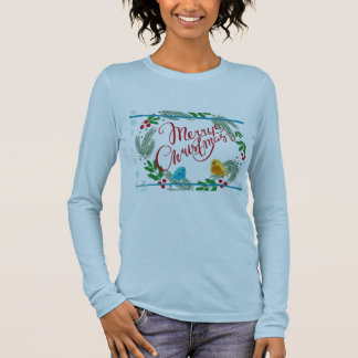 Women Christmas Print Long Sleeve T Shirt Casual