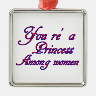 women design Silver-Colored square decoration