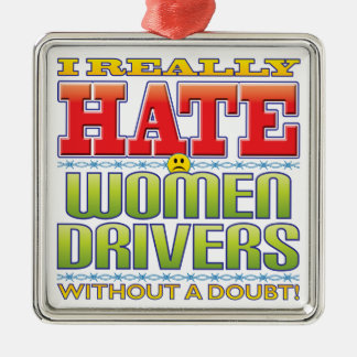 Women Drivers Hate Face Christmas Tree Ornament